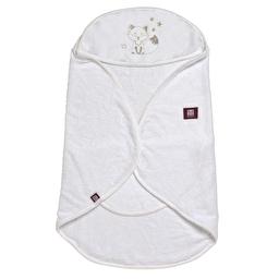 Рушник-конверт для ванної Babynomade - білий/ 0-6 міс