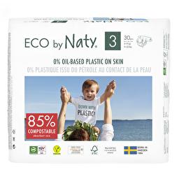 Подгузники Eco by Naty размер 3, рекомендуемый вес 4-9 кг, 30 шт