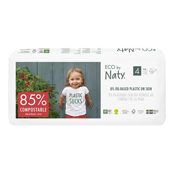 Подгузники Eco by Naty размер 4, рекомендуемый вес 7-18 кг, 44шт