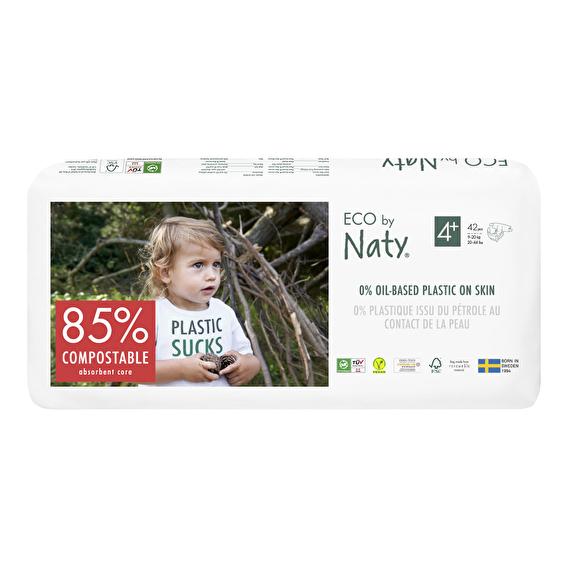 Подгузники Eco by Naty размер 4+, рекомендуемый вес 9-20 кг, 42 шт