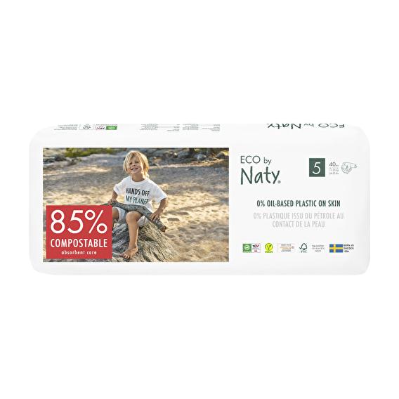 Подгузники Eco by Naty размер 5, рекомендуемый вес 11-26 кг, 40 шт