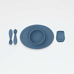 EZPZ Первый набор посуды синий (4 ед. в наборе)