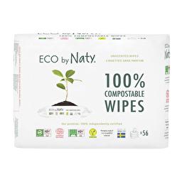 Органические влажные салфетки без запаха Eco by Naty 3х56