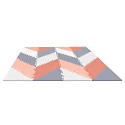 Игровой коврик-пазл Playspot Grey/Peach GEO Skip Hop