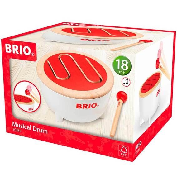 Іграшковий музичний інструмент Барабан BRIO - lebebe-boutique - 3