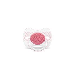 Suavinex - Пустушка з фізіологічною (круглої) соскою серії Couture, колір рожевий (0-4 міс)