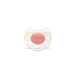 Suavinex - Пустушка з фізіологічною (круглої) соскою серії Couture, колір рожевий (з 4 до 18 міс)