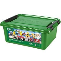 Іграшкова залізниця BRIO Deluxe з вантажними кранами