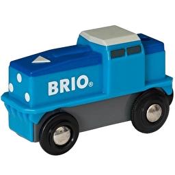 Іграшка вантажний локомотив на батарейках BRIO