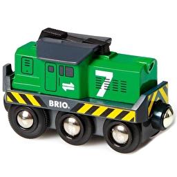 Іграшка локомотив на батарейках для залізниці BRIO
