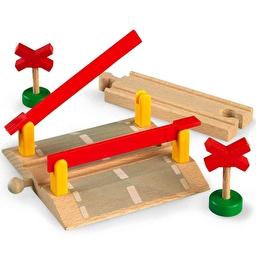 Іграшка дерев'яний переїзд для залізниці BRIO