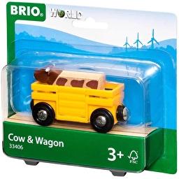 Іграшка вагончик BRIO з фігуркою корови