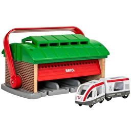 Іграшка BRIO Переносне депо з поїздом