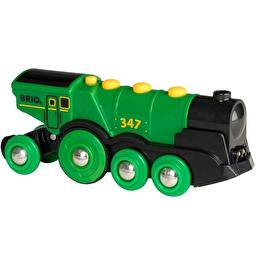 Іграшка зелений паротяг на батарейках BRIO