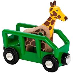 Іграшка вагончик BRIO з фігуркою жирафа
