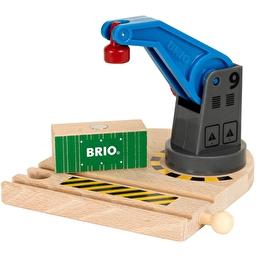 Іграшка обертовий підйомний кран BRIO з вантажем