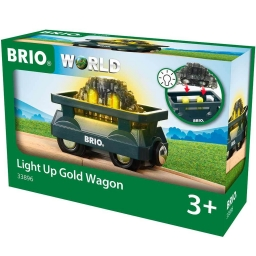Іграшка вагончик BRIO з вантажем, що світиться