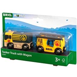 Іграшка автоцистерна с вагоном для железной дороги BRIO