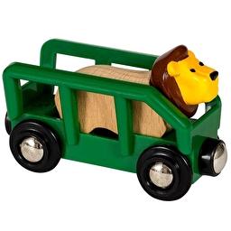 Іграшка вагончик BRIO з фігуркою лева