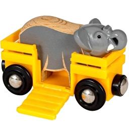 Іграшка вагончик BRIO з фігуркою слона