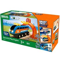 Іграшка локомотив BRIO Smart Tech з інтерактивним тунелем і звукозаписом