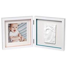 Baby Art Подвійна рамочка Біла зі смужками з відбитками