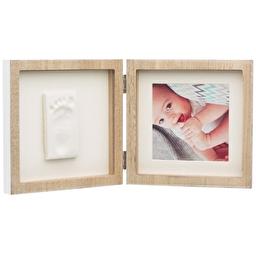 Baby Art Подвійна рамочка Дерев'яна з відбитками