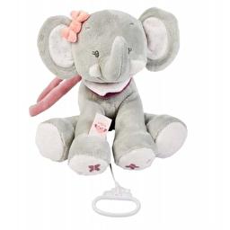 Мягкая музыкальная игрушка 28см слоник Адель Nattou