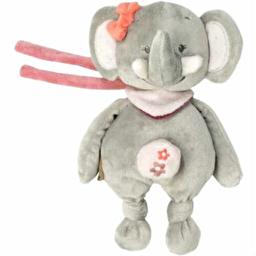 Мягкая музыкальная игрушка 21см слоник Адель Nattou