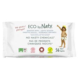 Органические влажные салфетки ECO BY NATY, с легким запахом 56 шт.