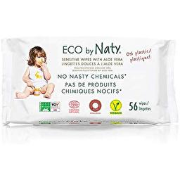 Органические влажные салфетки Naty с экстрактом алоэ, 56 шт.