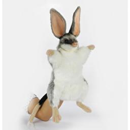 М'яка іграшка на руку Hansa Білбі бандикут (вухатий сумчастий борсук), 35 см