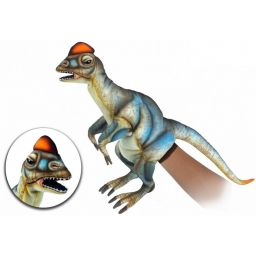 Дилофозавр, игрушка на руку, 50 см, реалистичная мягкая игрушка Hansa