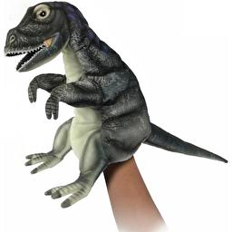 Альбертозавр, игрушка на руку, 50 см, реалистичная мягкая игрушка Hansa