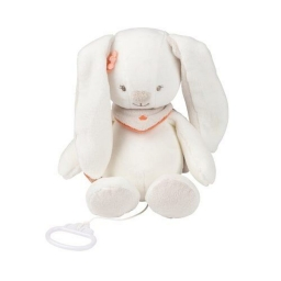 Мягкая музыкальная игрушка 28см кролик Мия Nattou