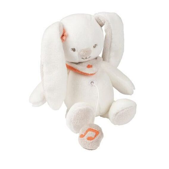 М'яка музична іграшка 21см кролик Мія Nattou