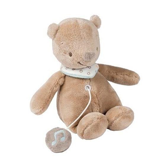 М'яка музична іграшка 21см ведмедик Базиль Nattou