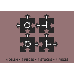 Набор дополнительных элементов «Перекресток» Waytoplay (4 части)