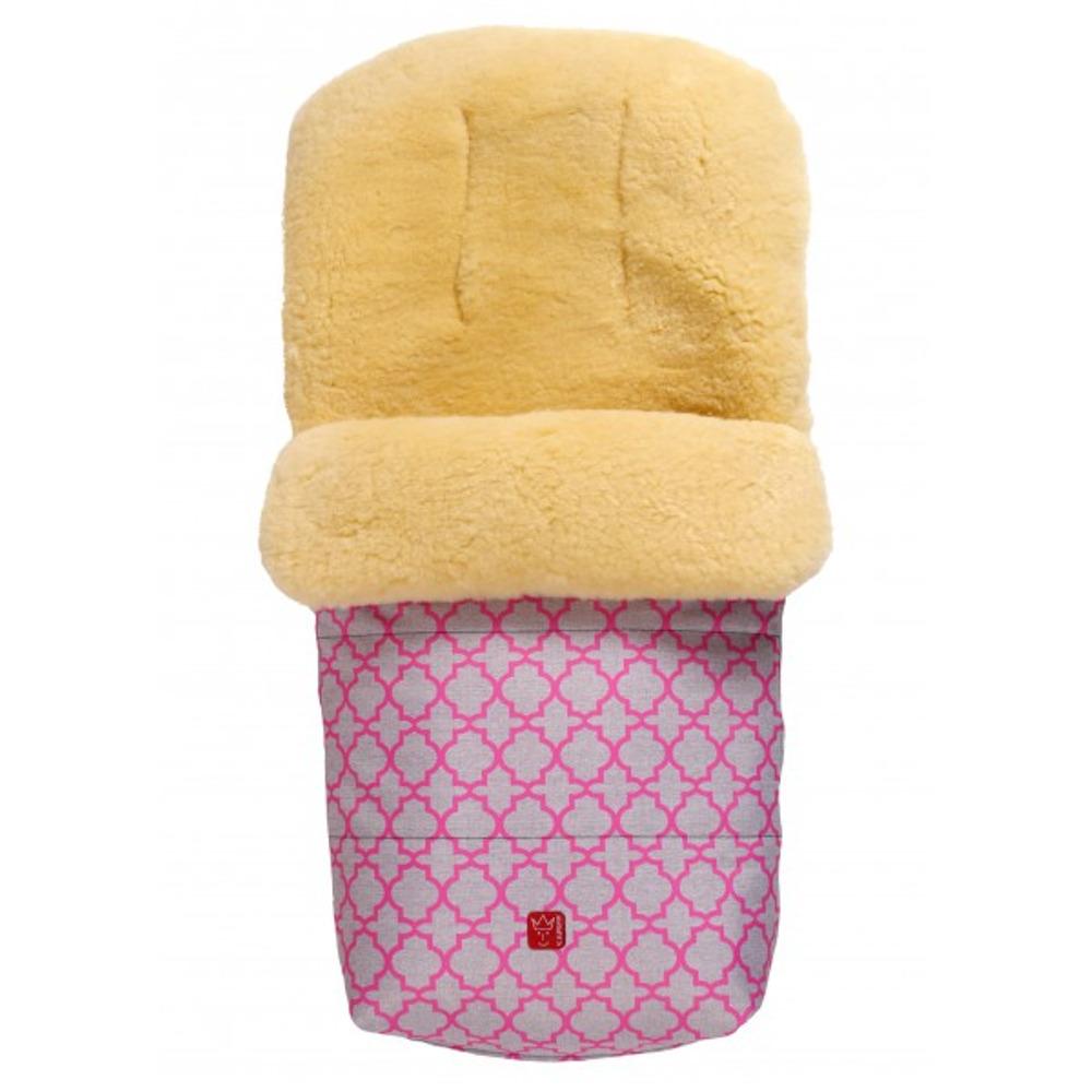 Большой тёплый конверт KAISER NATURA с розовым орнаментом