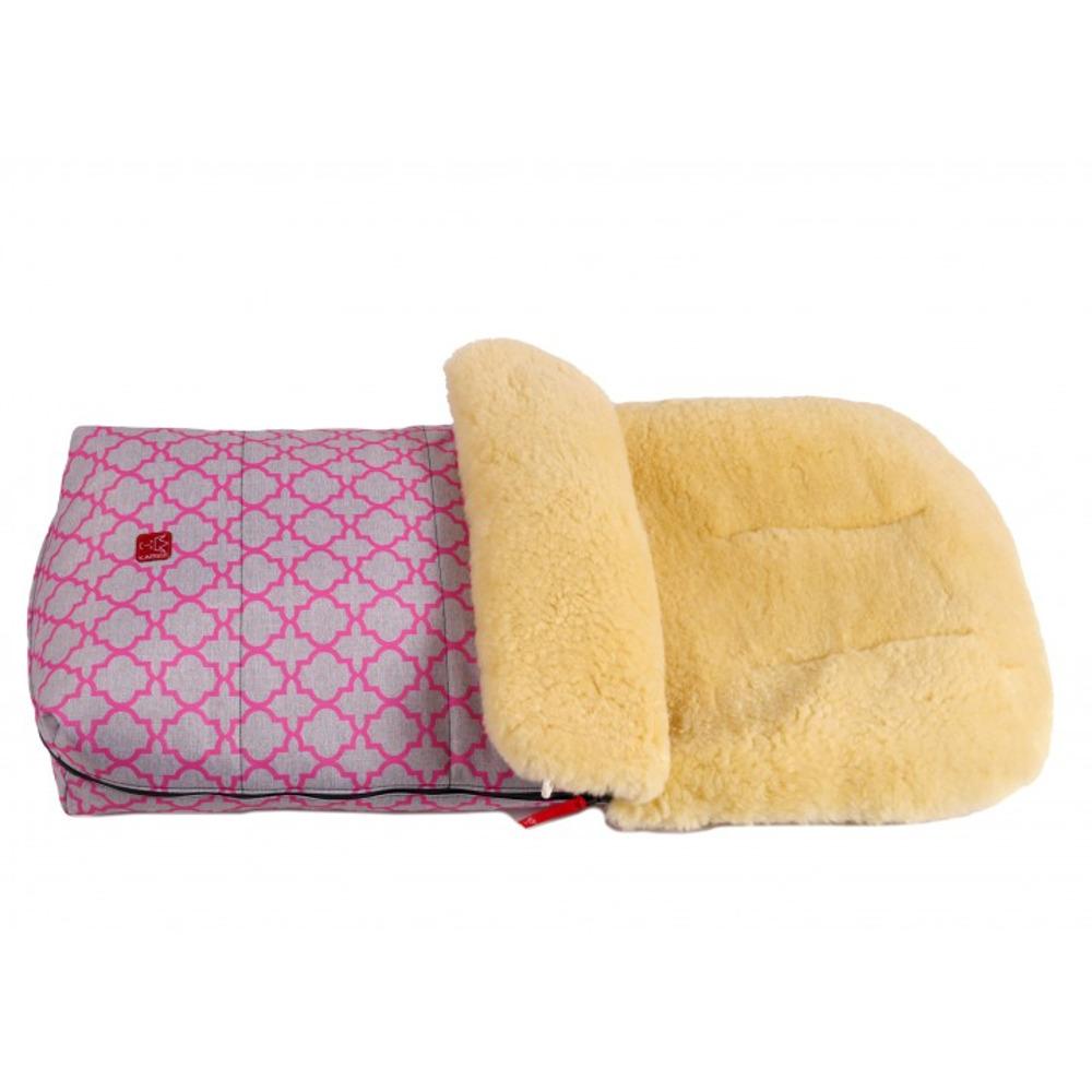 Большой тёплый конверт KAISER NATURA с розовым орнаментом - lebebe-boutique - 2