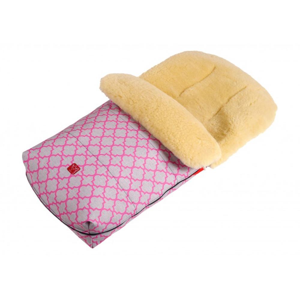 Большой тёплый конверт KAISER NATURA с розовым орнаментом - lebebe-boutique - 3