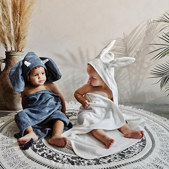 Полотенце с капюшоном, Vanilla White Bunny, Elodie Details - lebebe-boutique - 2