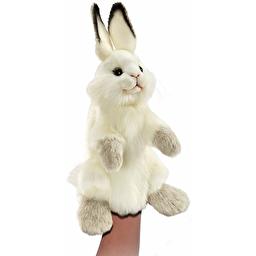 Білий кролик, іграшка на руку, 34 см, реалістична м'яка іграшка Hansa