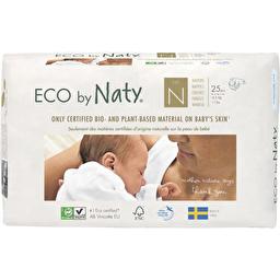 Подгузники Eco by Naty для новорожденных, Размер 0, рекомендуемый вес до 4,5 кг, 25 шт
