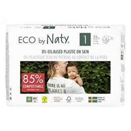 Подгузники Eco by Naty размер 1, рекомендуемый вес 2-5 кг, 25 шт