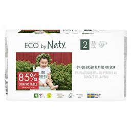 Подгузники Eco by Naty размер 2, рекомендуемый вес 3-6 кг, 33 шт