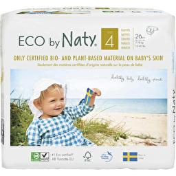 Подгузники Eco by Naty размер 4, рекомендуемый вес 7-18 кг, 26 шт.