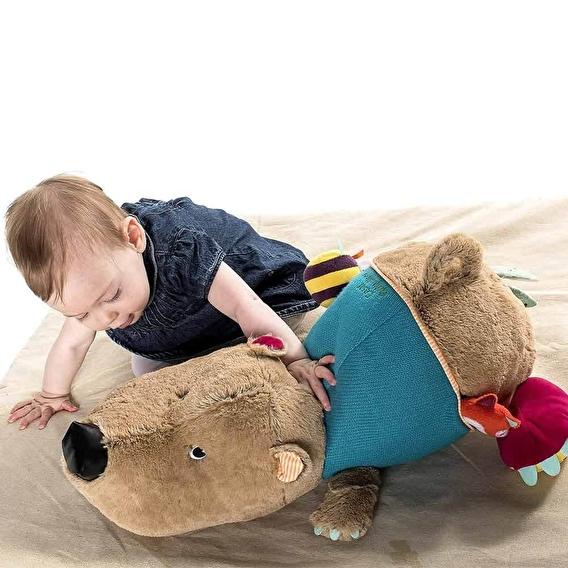 Большая развивающая игрушка Lilliputiens медведь Цезарь - lebebe-boutique - 5