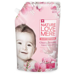 Кондиционер-ополаскиватель для детской одежды Nature Love Mere с экстрактом цветения вишни, 1,3 мл