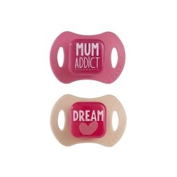Соска-пустышка силиконовая Beaba набор 2 шт 0-6 мес Mum Addict